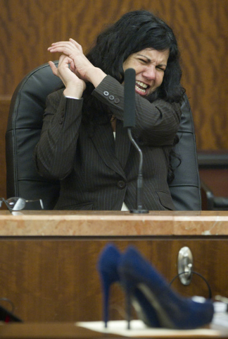 Ana Trujillo testifies during the punishment phase of her trial on Thursday in Houston. Trujillo, convicted of murder for fatally stabbing her boyfriend 59-year-old Alf Stefan Andersson with a 5 1 ...