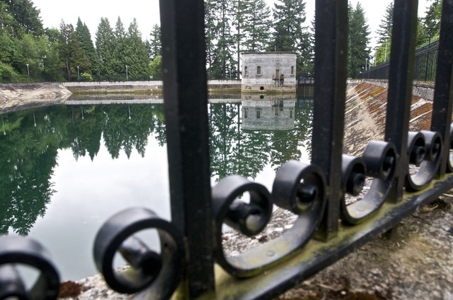 Portland, Ore., officials said Wednesday, April 16, 2014, that they are flushing away millions of gallons of treated water for the second time in less than three years because someone urinated int ...