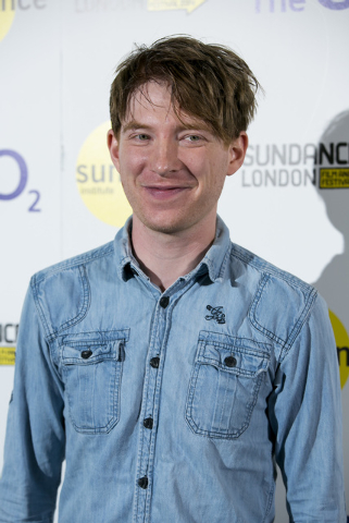 FILE - In this April 25, 2014 file photo, Irish actor Domhnall Gleeson arrives for the 'Frank' premiere at the Sundance Film Festival in London. The cast of Star Wars: Episode VII was announced Tu ...