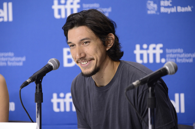 "FILE - In this Sept. 8, 2013 file photo, Adam Driver attends a news conference for ""The F Word"" on day 4 of the Toronto International Film Festival in Toronto. The cast of Star Wars: Epi ..."