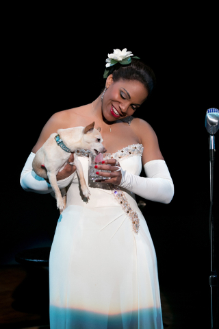 """FILE - This file photo provided by Jeffrey Richards Associates shows Audra McDonald as Billie Holiday in """"Lady Day at Emerson's Bar & Grill."""" McDonald on Tuesday, April 29, 2014 earned a ..."""