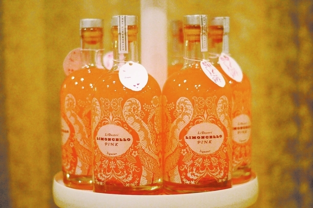 Limoncello Pink liqueur is seen on display at the LiDestri Spirits booth during the Wine & Spirits Wholesalers of America's 71st annual convention at the Caesars Palace casino-hotel in Las Vegas T ...