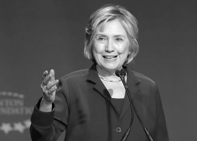 Former Secretary of State and New York Democratic Senator Hillary Clinton speaks at a student conference for the Clinton Global Initiative University at Arizona State University, Friday, March 21, ...