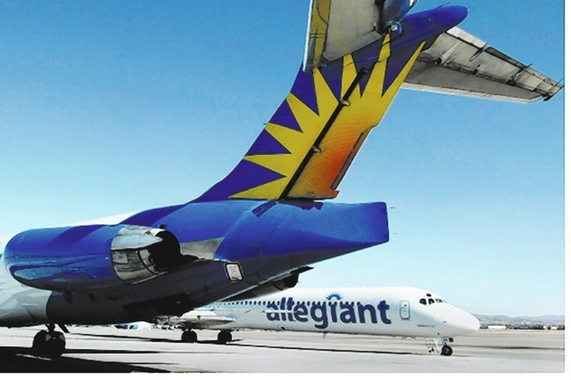 Allegiant Air's parent, Allegiant Travel Co. posted increases in net income and operating revenue in its first quarter. (Review-Journal File)