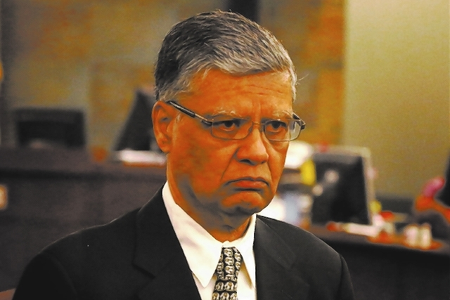 Dr. Dipak Desai is shown at Clark County Regional Justice Center, where jury selection was completed on Monday. Desai and anesthetist Ronald Lakeman are charged with second-degree murder, fraud an ...