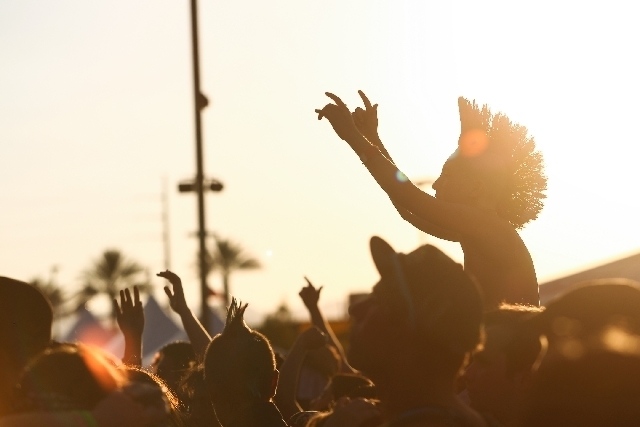 This year's Warped Tour will take place on the grass-covered UNLV Intramural Fields. (Chase Stevens/Las Vegas Review-Journal)