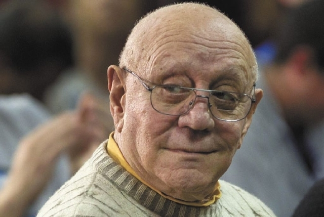 Jerry Tarkanian remains in intensive care at Valley Hospital after being admitted Wednesday night after complaining of not feeling well. In this April 2011, file photo, former UNLV basketball coac ...