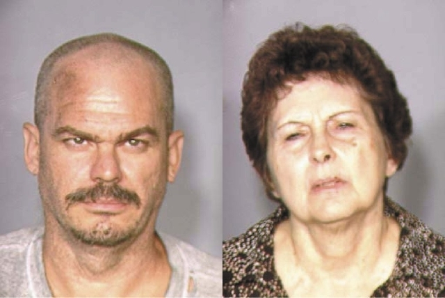 David Allan Brutsche, 42, left, and Devon Campbell Newman, 67.  (File, Las Vegas Review-Journal)