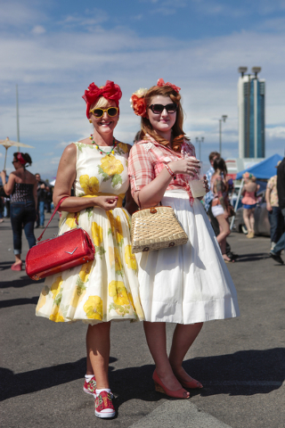 Attendees dress up in 1950s attire at a previous Viva Las Vegas Rockabilly Weekender at the Orleans, 4500 W. Tropicana Ave. (Special to View)