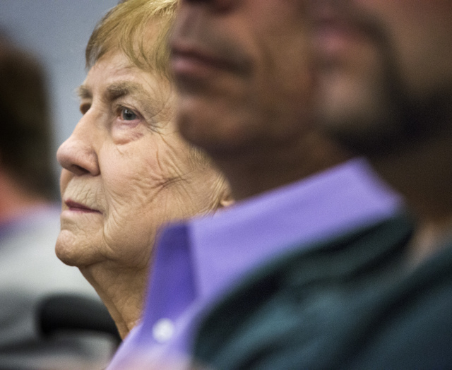 Delores Cipriano, 81, of Henderson as seen Monday, April 7, 2014 at Regional Justice Center during a multibillion dollar lawsuit against Takeda Pharmaceuticals . Cipriano and Bertha Triana, 80, of ...