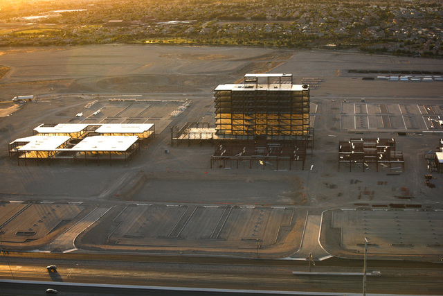 The site of the delayed Summerlin Centre development as seen Friday, June 15, 2012.  (Jeff Scheid/Las Vegas Review-Journal)