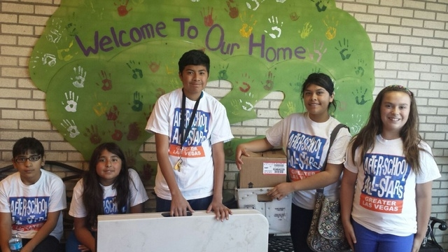 "Members of After-School All-Stars' Youth Advisory Board led a project at the Shade Tree shelter April 19 for international Global Youth Service Day. The project, ""All-Star Buddies,"" was made p ..."