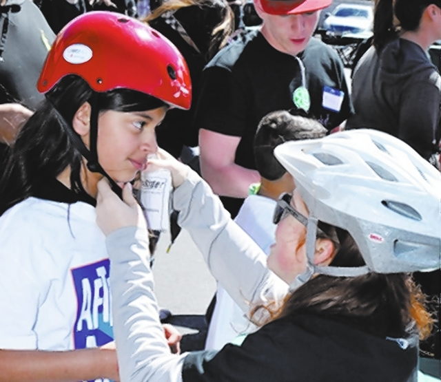 The Patrick Kelley Youth Foundation handed out new bicycles, helmets and locks to underprivileged students enrolled in After-School All-Stars Las Vegas March 30 at Piero's Italian Cuisine, 355 C ...