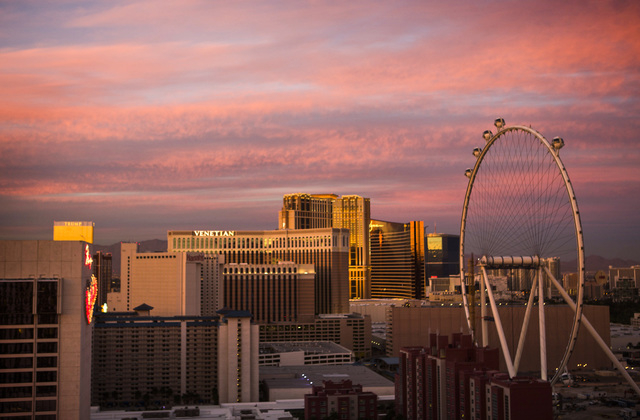 The High Roller Observation Wheel as seen Thursday, Nov. 14, 2013. The ride is scheduled to open early 2014.Jeff Scheid/Las Vegas Review-Journal)