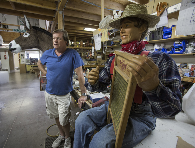Olaf Stanton, owner of Characters Unlimited in Boulder City, stands in the workshop April 1. (Jeff Scheid/Las Vegas Review-Journal)