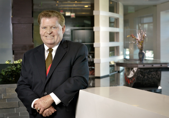 Ed Kittrell, founding partner with KGA Architecture, is shown at the firm's offices at 9075 W. Diablo Drive in Las Vegas on March 28. (Bill Hughes/Las Vegas Review-Journal)