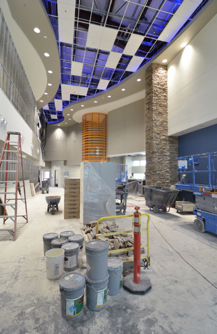 Part of the interior of the Sundance Helicopters terminal is shown at 5596 Haven St. in Las Vegas on April 11. (Bill Hughes/Las Vegas Review-Journal)