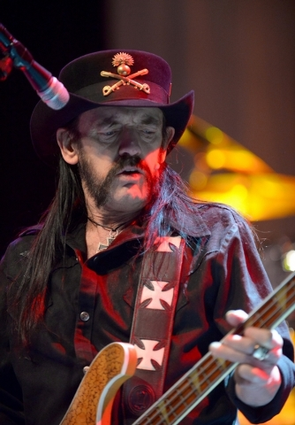 Motorhead frontman Lemmy Killmister performs at The Pearl at the Palms on April 17. (Bryan Steffy/Courtesy)