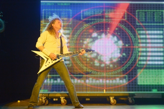 Megadeth performs at The Pearl at the Palms on April 17. (Bryan Steffy/Courtesy)