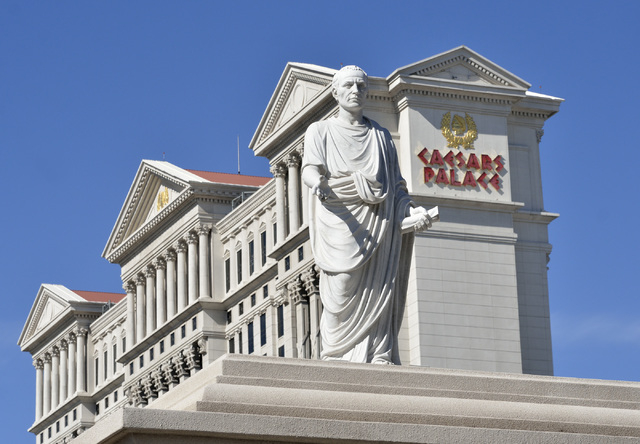 The exterior of the Caesars Palace hotel-casino at 3570 Las Vegas Blvd., South, in Las Vegas is shown on Tuesday, Oct. 29, 2013. (Bill Hughes/Las Vegas Review-Journal)
