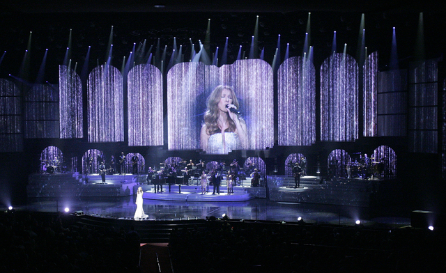 The average Las Vegas show ticket price is up $2.64 from last year, but the big shows like Celine Dion, shown here, tend to hold steady. (JOHN LOCHER/LAS VEGAS REVIEW-JOURNAL FILE)