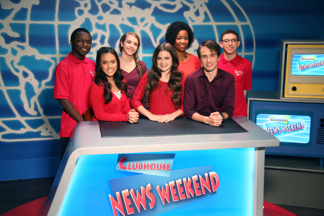 Clubhouse News staffers, from left, Devin Daisley, Gabriella Cascio, Haleyann Hart, Chloe Brown, Yolanda Nosa, Angelo Molinero and Joey Frye. (COURTESY PHOTO)
