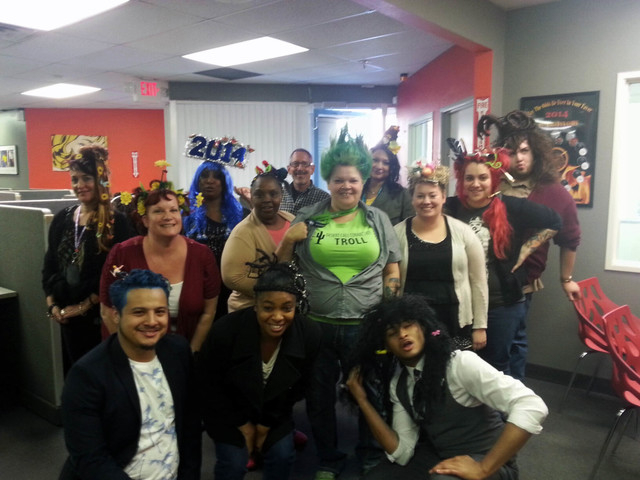 Participants take part in a crazy hair event April 7 at Desert Call Connection, 4330 S. Valley View Blvd. The event benefited the Foundation for an Independent Tomorrow, a nonprofit at 1931 Stella ...