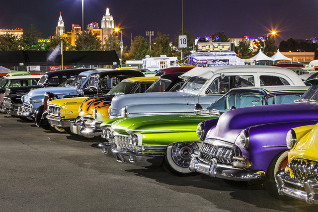 Pre-1963 cars line up for a previous car show at the Viva Las Vegas Rockabilly Weekender at the Orleans, 4500 W. Tropicana Ave. This year's event is planned for April 17-20. (Special to View)