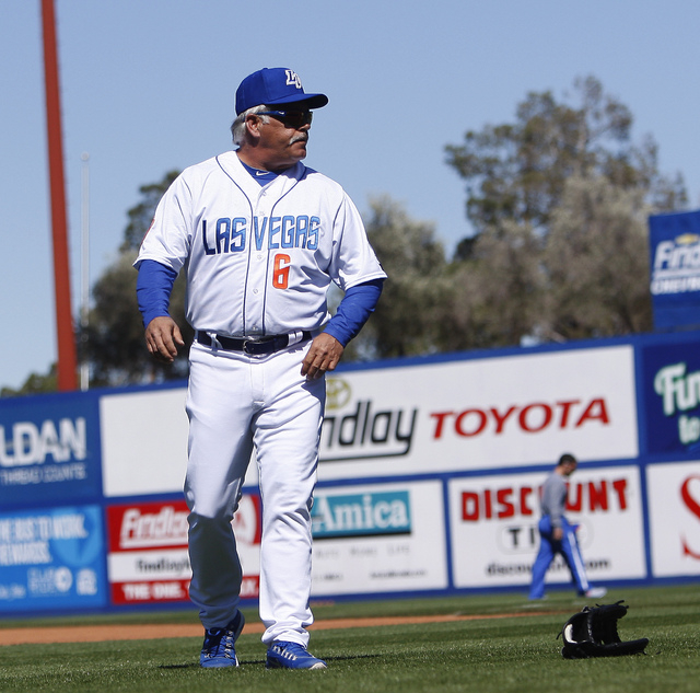 Las Vegas 51s manager Wally Backman attends the team's organized media day at Cashman Field on Tuesday. (Jason Bean/Las Vegas Review-Journal)