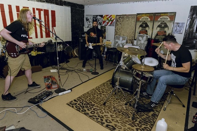 Singer-guitarist Bob Gates, left, and bassist Zobi Naqshband, both formerly of Vegas punk outfit Holding On To Sound, have teamed with hard-hitting drummer Micah Malcolm to form Illicitor. The new ...