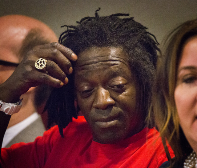 Rapper Flavor Fav appears in Clark County District Court on Monday, April 14,2014. The artist, whose real name is William Drayton, plead guilty to domestic violence charges. (Jeff Scheid/Las Vegas ...