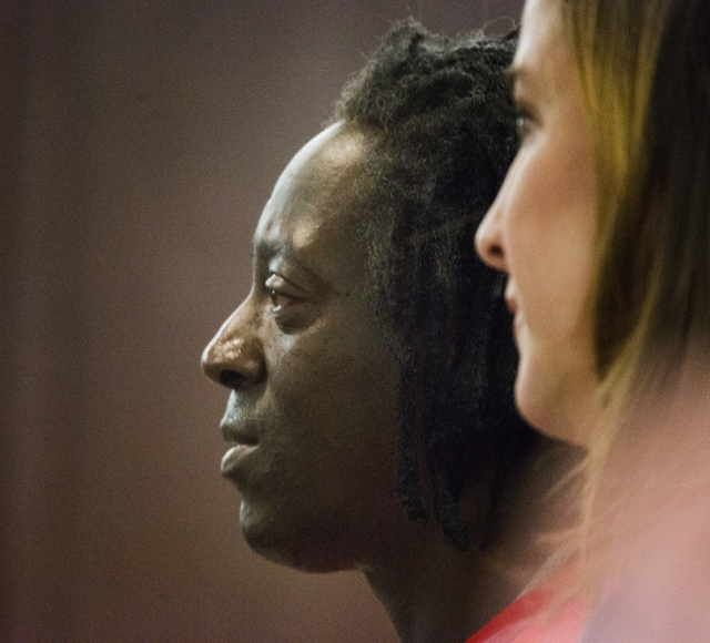 Rapper Flavor Fav appears in Clark County  District Court on Monday, April 14,2014.  The artist, whose real name is William Drayton, pleaded guilty to domestic violence charges. (Jeff Scheid/Las V ...