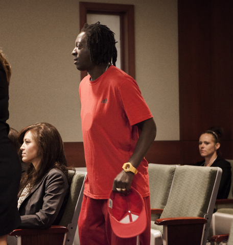 Rapper Flavor Fav appears in Clark County  District Court on Monday, April 14,2014. The artist, whose real name is William Drayton, pleaded guilty to domestic violence charges. (Jeff Scheid/Las Ve ...