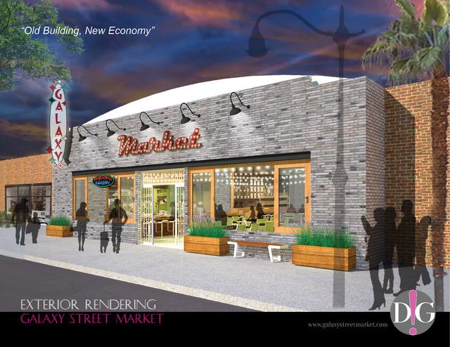 Exterior rendering, Galaxy Street Market. (Courtesy, Galaxy Street Market)