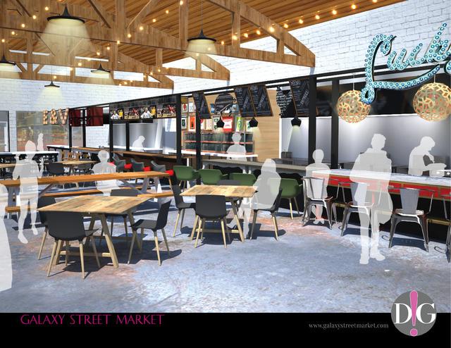 Interior rendering, Galaxy Street Market. (Courtesy, Galaxy Street Market)