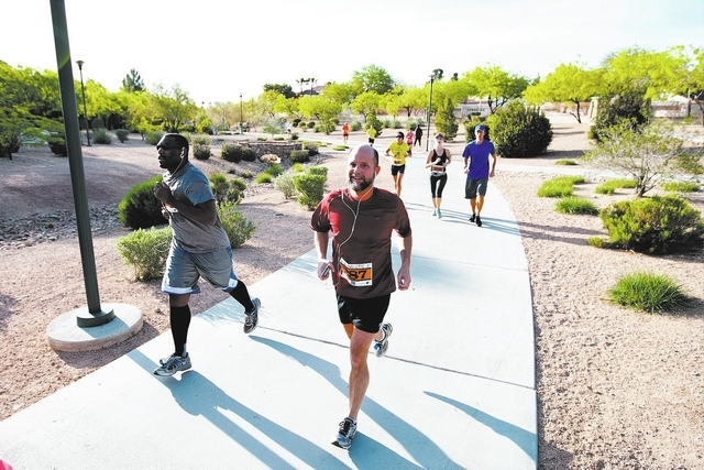 Runners are seen in the 2013 Summerlin Half Marathon. This year's pre-race event is scheduled for noon to 7 p.m. April 11 at the JW Marriott's convention area, 221 N. Rampart Blvd. The race is ...