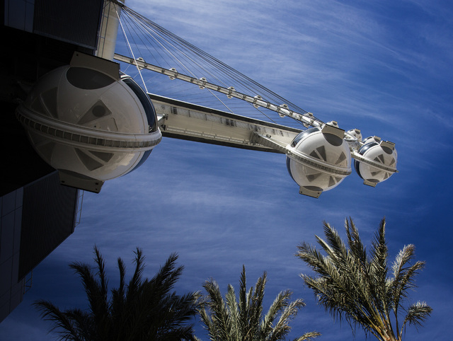 The High Roller at The Linq as seen Monday, March 31, 2014. The world's tallest observation wheel opened to the public today. (Jeff Scheid/Las Vegas Review-Journal)
