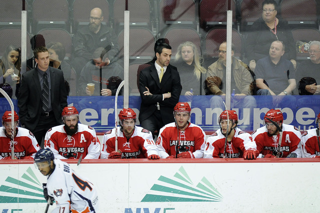 Las Vegas Wranglers head coach Mike Madill is not ready to panic before today's pivotal Game 3 at the Orleans Arena. (Josh Holmberg/Las Vegas Review Journal File)