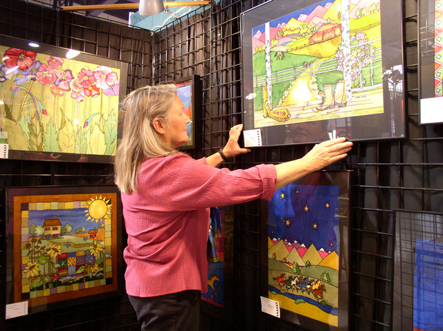 Artist  Louise Howes of Gardnerville displays her work at the annual Craft Festival, visiting Cashman Center this weekend. Courtesy photo.