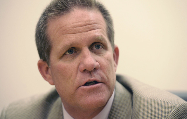 Mark Hutchison, Nevada lieutenant governor candidate, received an endorsement form Mitt Romney on Monday. (Mark Damon/Las Vegas Review-Journal File)