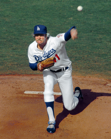 Jerry Reuss is shown while pitching for the Los Angeles Dodgers, for whom he won 86 games from 1979 to 1987. (SPECIAL TO THE LAS VEGAS REVIEW-JOURNAL)