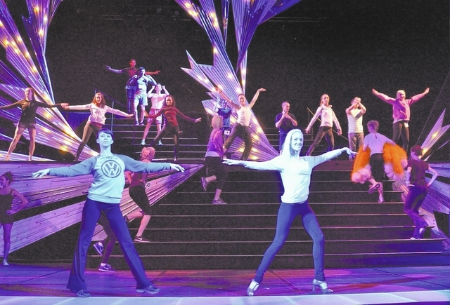 "Cast members from ""Jubilee!"" dance during a rehearsal at the Jubilee Theater in Bally's hotel-casino at 3645 Las Vegas Blvd., South, in Las Vegas on Thursday, March 6, 2014. (Bill Hughes/Las Vegas ..."