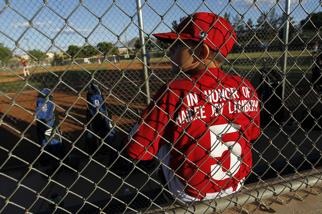 Jack Johnson and his Green Valley Nationals little league teammates honor the memory of Hailee Joy Lamberth, the little girl who committed suicide as a result of being bullied, while playing a bas ...