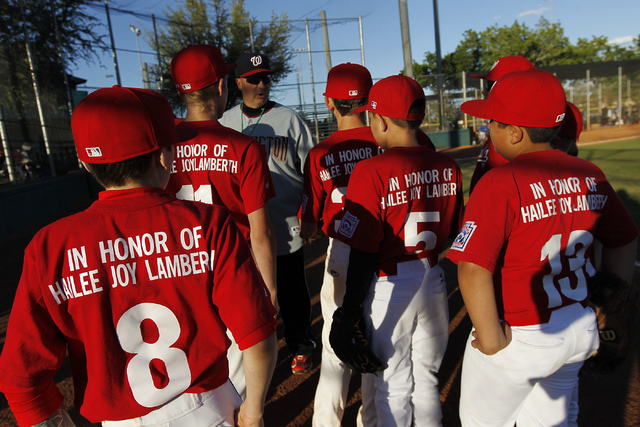 The Green Valley Nationals little league team honors the memory of Hailee Joy Lamberth, the little girl who committed suicide as a result of being bullied, while playing a baseball game at the Arr ...