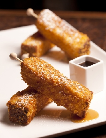 Cornflake-crusted brioche french toast at La Cave at Wynn Las Vegas. (Courtesy)