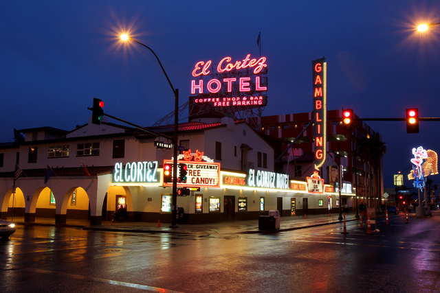The El Cortez hotel-casino is one of ten downtown casinos that Culinary and Bartenders union workers plan to picket at this weekend (K.M. Cannon/Las Vegas Review-Journal)
