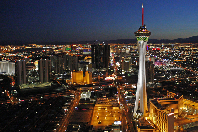 A man was shot near the Stratosphere late Monday night, according to Las Vegas police. (Review-Journal File Photo)