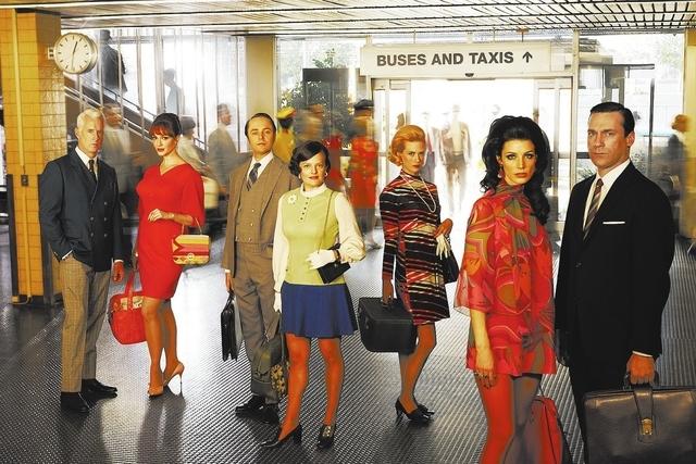 Roger Sterling (John Slattery), Joan Harris (Christina Hendricks), Pete Campbell (Vincent Kartheiser), Peggy Olson (Elisabeth Moss), Betty Francis (January Jones), Megan Draper (Jessica Pare) and  ...
