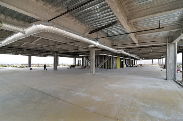 One of the floors of an office building at the Shops at Summerlin on the northeast corner of Sahara Avenue and the 215 Beltway in Las Vegas is shown on Friday, April 4, 2014. (Bill Hughes/Las Vega ...