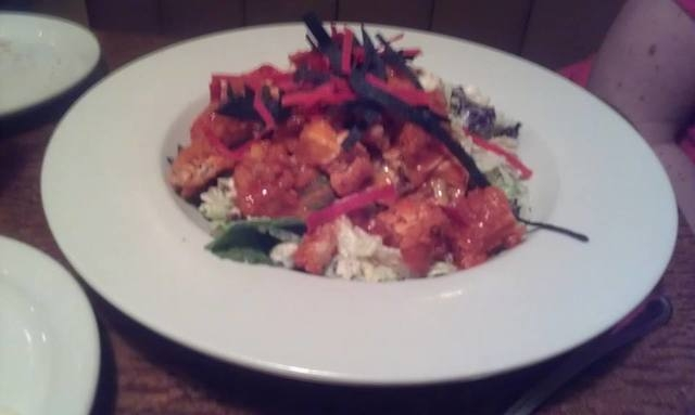 The Buffalo chicken tenderloin salad at Montana Meat Co. packs a kick. (Lisa Valentine/View)